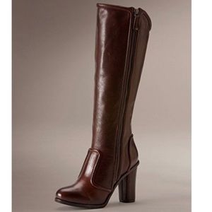 FRYE Sylvia Piping Tall boots - Expresso Size 10M